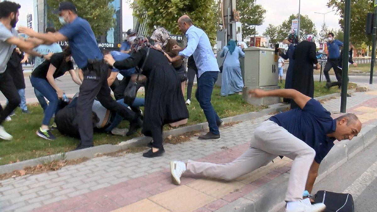 Keşif sırasında saldırdılar, polis biber gazıyla müdahale etti