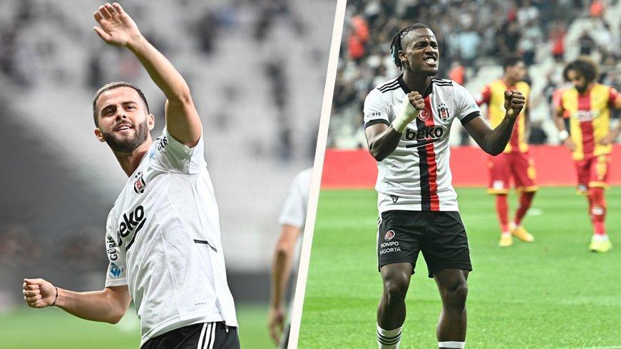 Beşiktaş'ın yıldızı Miralem Pjanic müthiş başladı, Batshuayi açılışı yaptı!