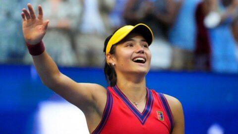 ABD Açık tek bayanlar şampiyonu Emma Raducanu