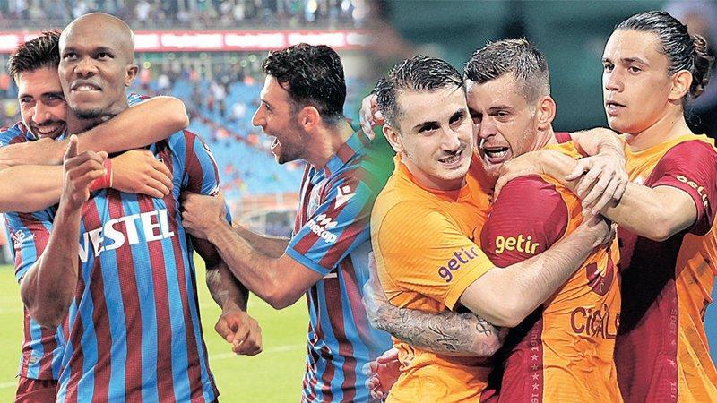 Trabzonspor ile Galatasaray sezonun ilk büyük maçında