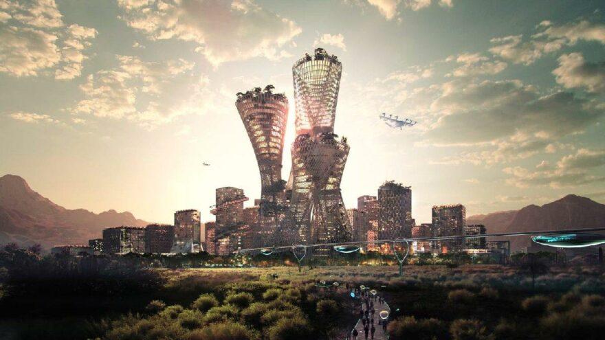 Çölün ortasına 400 milyar dolarlık şehir kurulacak
