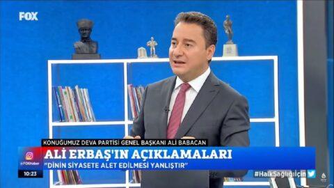 Ali Babacan: Diyanet İşleri Başkanlığımızın itibarlı bir kurum olması lazım