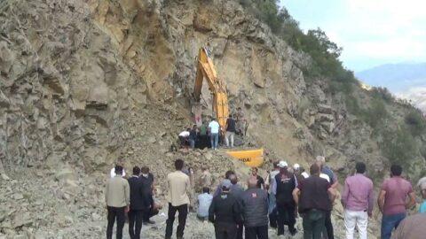 Heyelanda iş makinasında mahsur kalan işçi öldü