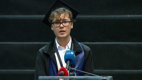 İTÜ birincisinin mezuniyet törenindeki konuşması büyük ilgi gördü: Bu sistemi değiştireceğiz