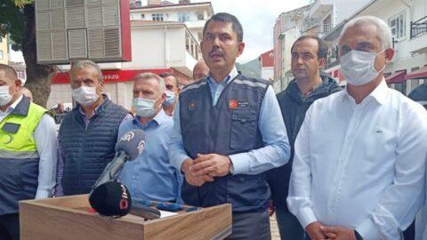 Bakan Kurum: Kastamonu, Sinop ve Bartın'da 952 konut ile 170 köy evi yapımına başlandı
