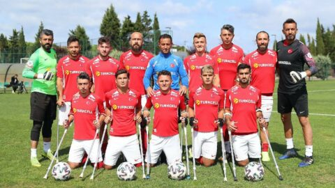 Ampute Futbol Milli Takımı gol yağdırdı