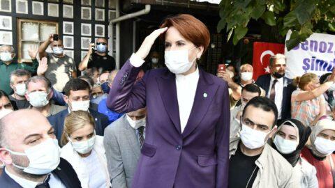 Akşener'e Trabzon'da sloganlı karşılama