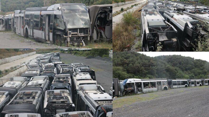 İstanbul'un 65 milyon euroluk metrobüs çöplüğü