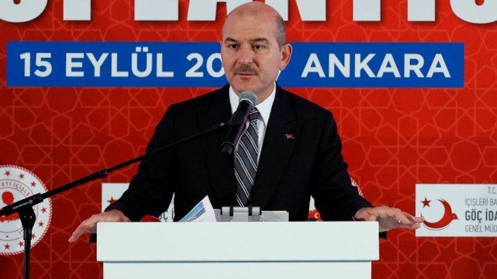 İçişleri Bakanı Süleyman Soylu'dan göçmen açıklaması