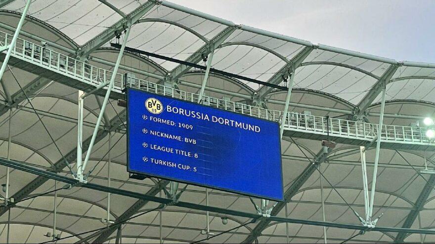 Beşiktaş-Borussia Dortmund maçı öncesi 'Türkiye Kupası' hatası
