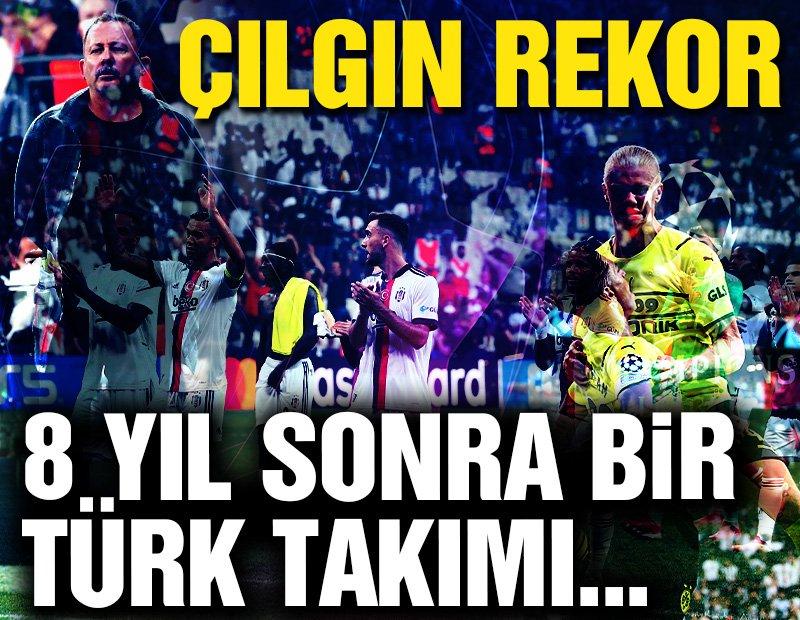 Beşiktaş Dortmund maçında rekor! 'Koşu mesafesi'nde bu bir ilk…