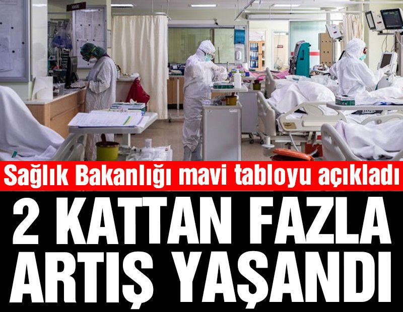 Sağlık Bakanlığı, mavi tabloyu açıkladı: 2 kattan fazla artış yaşandı
