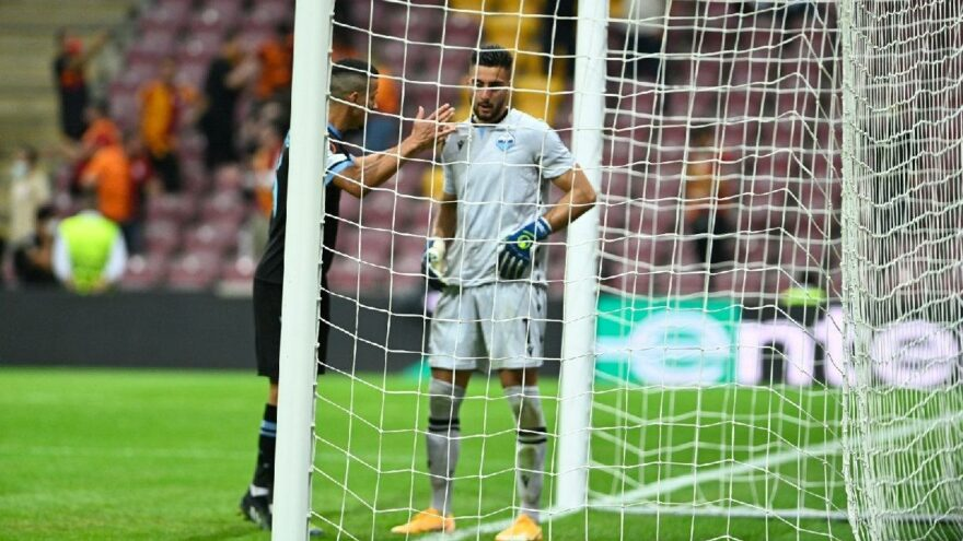 Lazio kalecisi Strakosha'dan Galatasaray maçında inanılmaz hata