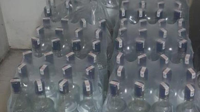 Otelde 332 litre sahte içki ele geçirildi