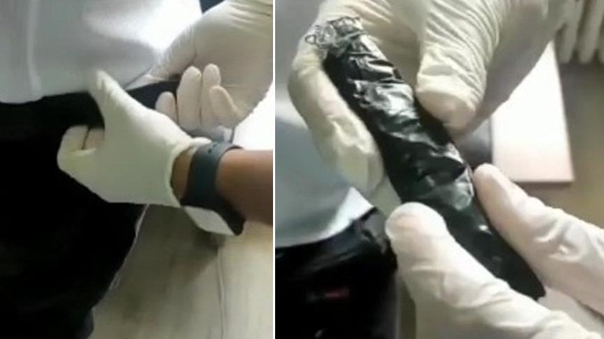 İç çamaşırına gizlediği uyuşturucuyla yakalandı