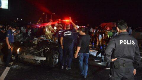 Lastiği patlayan otomobil faciaya neden oldu: 3 ölü, 3 yaralı