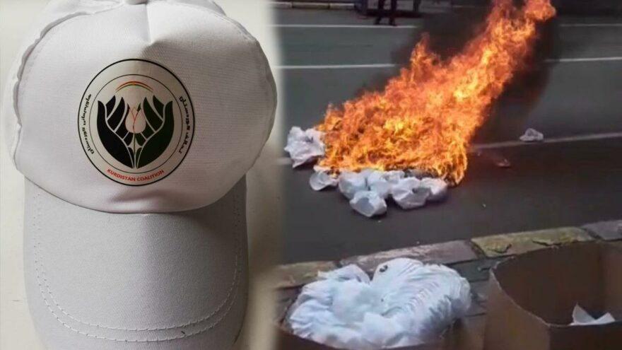 MHP'li belediye Irak seçimleri için hazırlanan şapkaları 'yasa dışı' diyerek yaktırdı