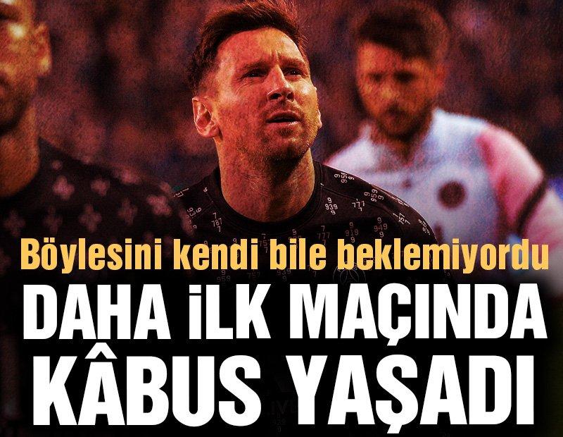 Messi'ye ilk maçında kâbus! Hedef tahtasına oturtuldu…