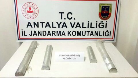 Antalya'da 15 kilo zenginleştirilmiş saf alüminyum ele geçirildi