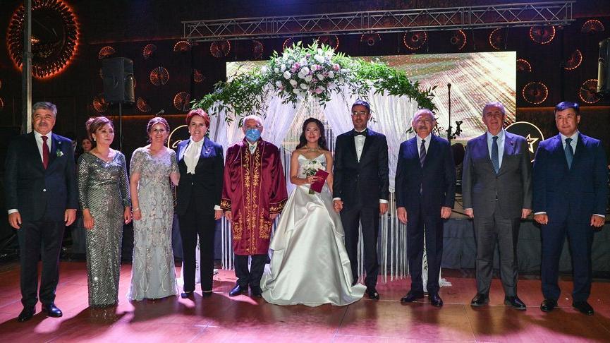 İYİ Partili vekilin oğlu evlendi; Kılıçdaroğlu, Akşener ve Yavaş şahitlik etti