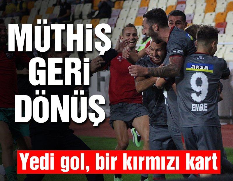 Yeni Malatyaspor-Fatih Karagümrük maçında müthiş geri dönüş! 7 gol, 1 kırmızı kart