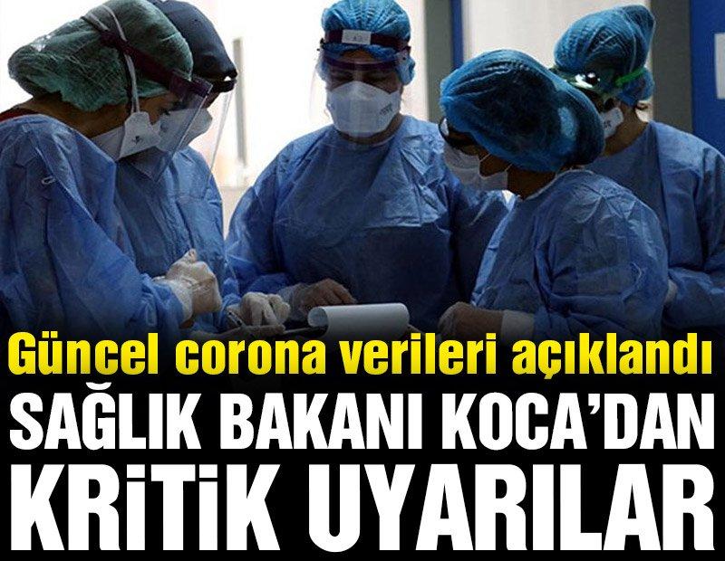 Günlük corona virüsü tablosu açıklandı! İşte vefat ve yeni vaka sayısı