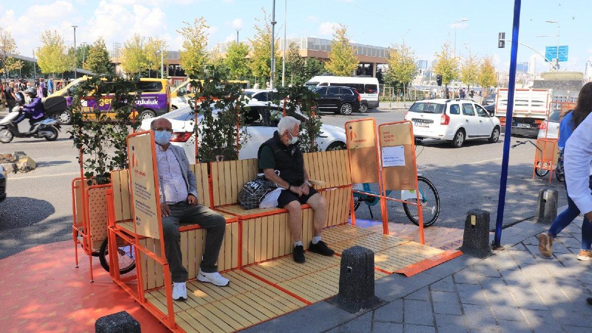 İstanbul'da bir ilk: Yayalara ve bisikletlilere mobil durak