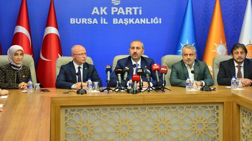 Adalet Bakanı Gül: Muhalefetin bir projesi, sorunları çözme vizyonu asla bulunmamakta