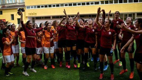 Galatasaray Kadın Futbol Takımı, sporseverlerle buluştu