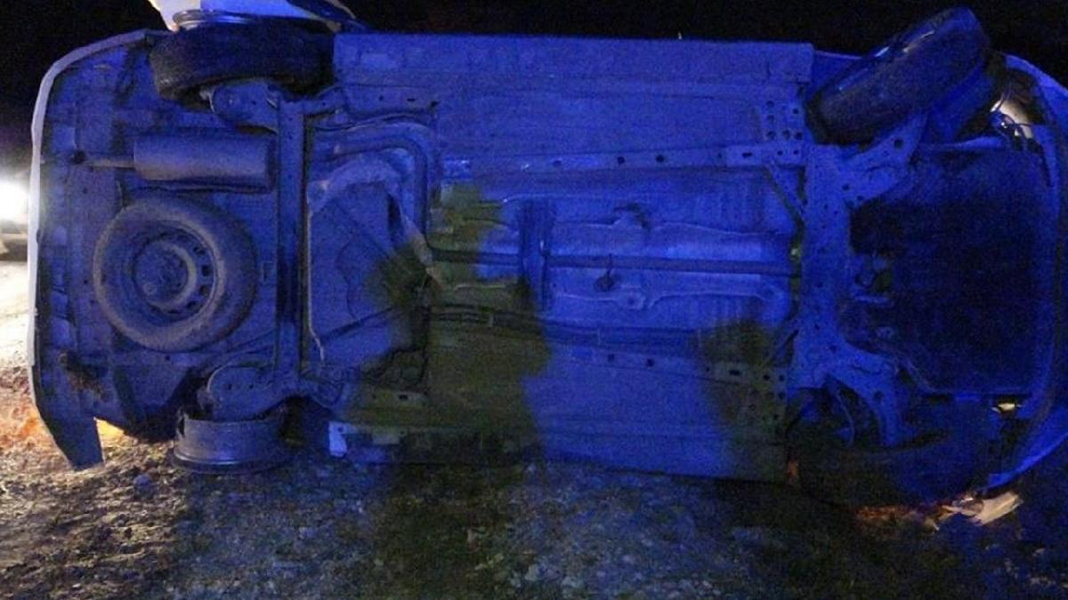 Kaçak mülteci taşıyan kamyonet devrildi