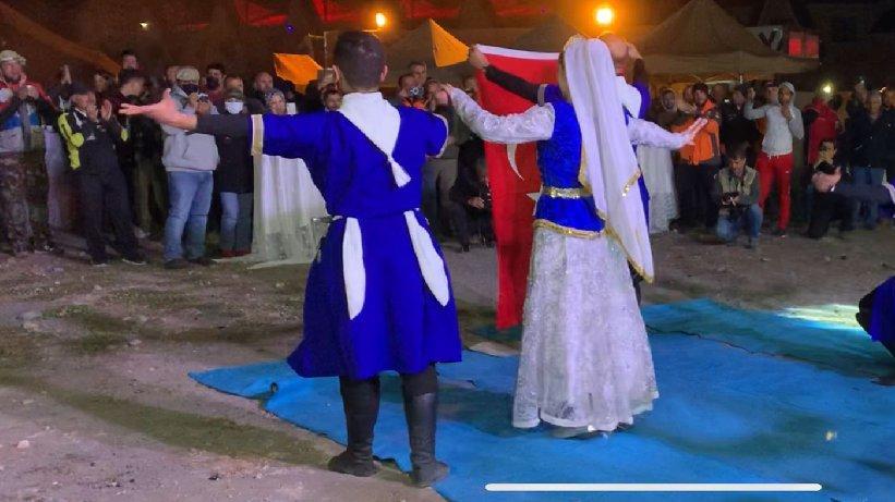 Ralliciler yorgunluğu Kafkas dansıyla attı