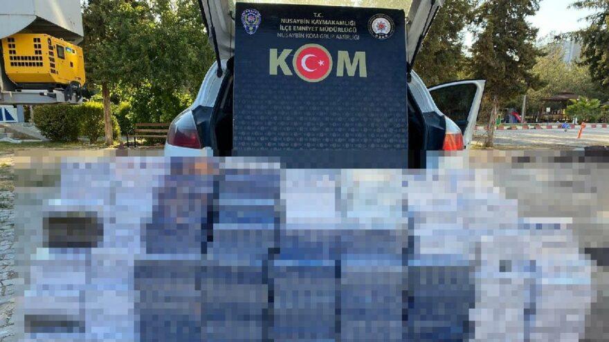Mardin'de 5 bin 240 paket kaçak sigara ele geçirildi