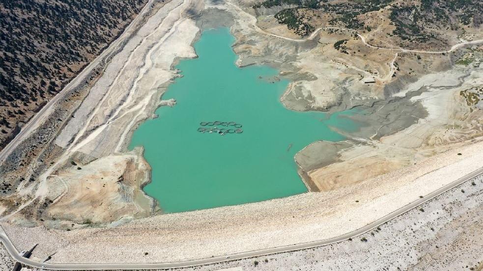 Çayboğazı Barajı'nın dibi göründü