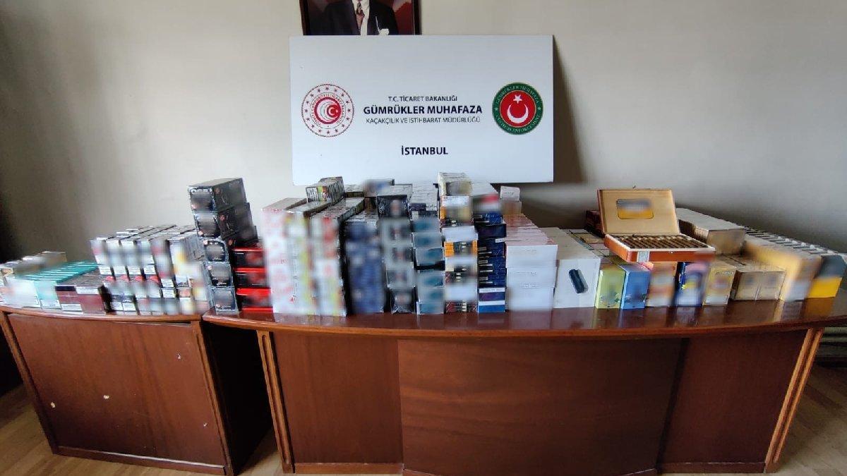 İstanbul'da 1 milyon liralık kaçak tütün mamulü ele geçirildi