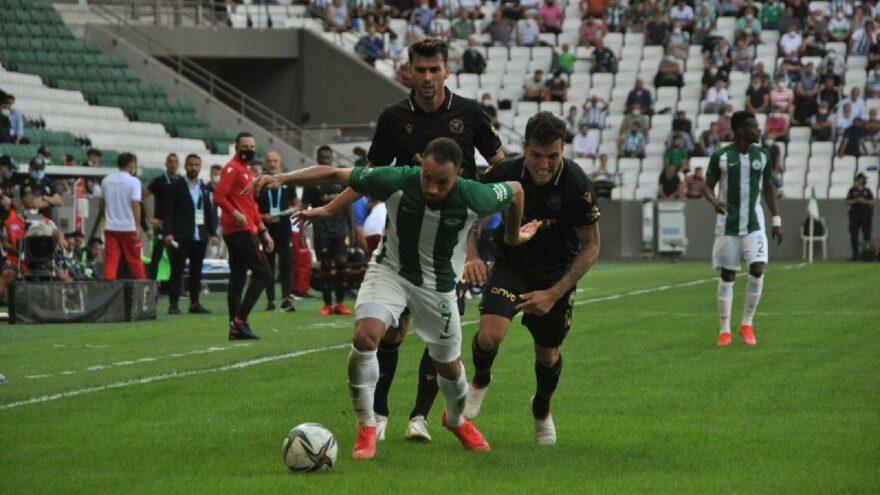 Giresunspor-Konyaspor maçında gol sesi çıkmadı