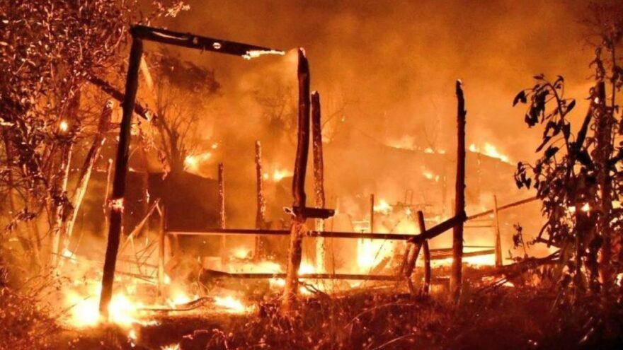 Yunanistan'da göçmen kampında yangın