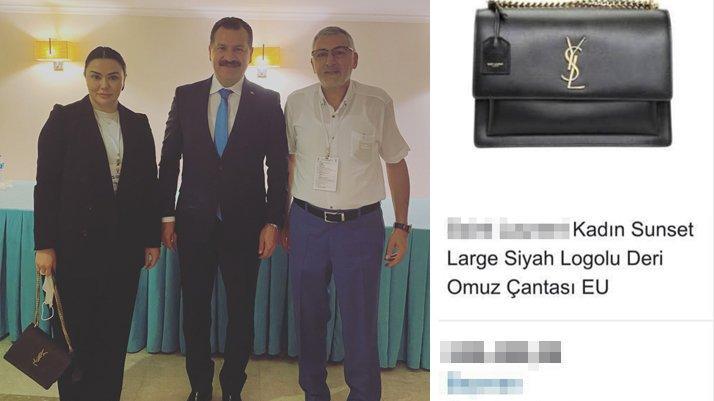 AKP'li başkanın çantasının fiyatı dudak uçuklattı
