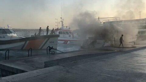 Bebek açıklarında teknede yangın