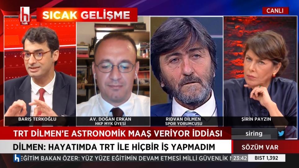 TRT'dan astronomik maaş aldığı iddia edilen Rıdvan Dilmen'den açıklama