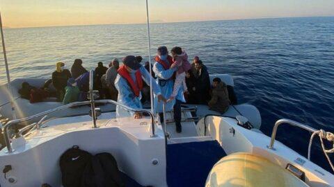 Denizlerimizde düzensiz göçmen hareketliliği