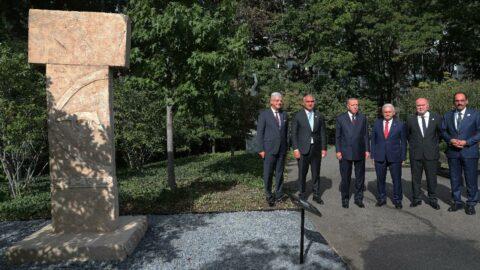 Erdoğan, New York'ta Göbeklitepe Anıtı'nı gezdi