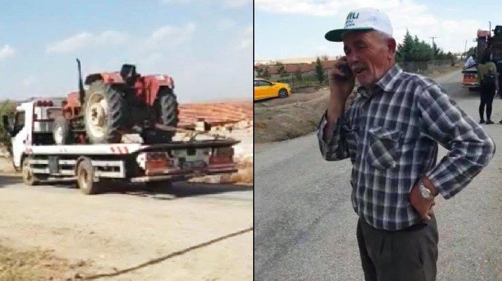 Tarlada çalışan çiftçinin çaresizliği!
