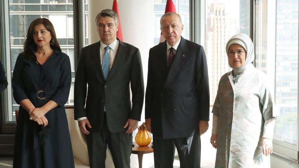 Cumhurbaşkanı Erdoğan, Hırvatistan ve Slovenya liderleriyle görüştü