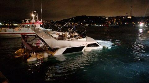 Bebek Sahili'nde yanan tekne ikinci yangında battı