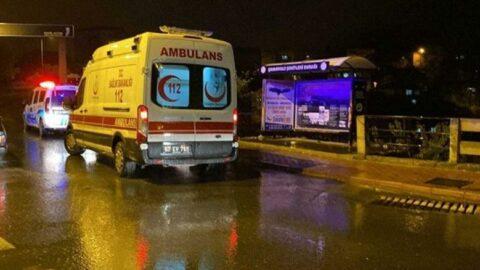 Ekipler kanlar içinde otobüs durağında buldu