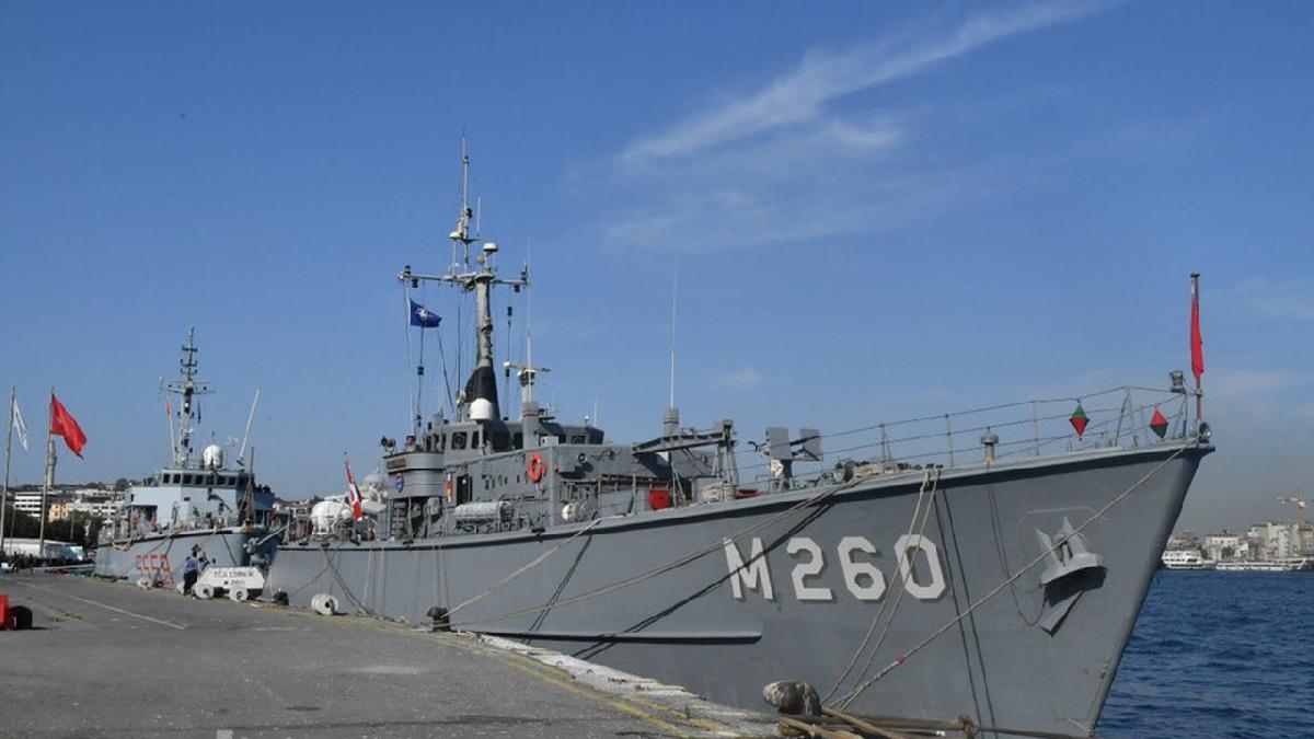 Türk, İspanyol ve İtalyan mayın avlama gemileri İstanbul'da