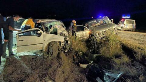 Katliam gibi kaza: 2 ölü, 6 yaralı