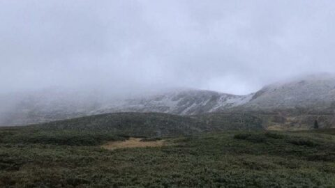 Uludağ'a senenin ilk karı düştü