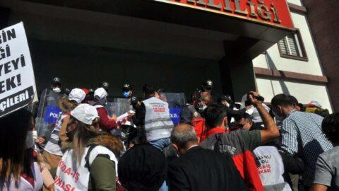 Tekirdağ Valiliği önünde eylem yapan işçilere müdahale