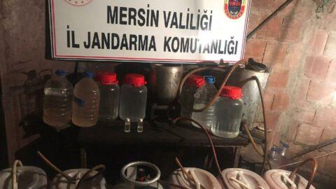 Mersin'de sahte alkol operasyonu